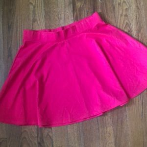 Torrid pink skater skirt with stretchy waist band